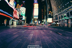 Empty! (dj murdok photos) Tags: newyork manhattan sony nighttime timessquare fullframe 16mmfisheye mirrorless djmurdokphotos sonya7 ilce7 laea4
