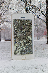 iPhone (Explored) (Mike Matney Photography) Tags: november sculpture snow storm tree weather canon illinois midwest phone iphone edwardsville 2014 eosm