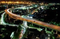 Motomachi traffic, Yokohama, Japan  (runslikethewind83) Tags: life road street city november light urban cars japan night lights asia stream cityscape traffic pentax  yokohama  2014  kannai lightstream