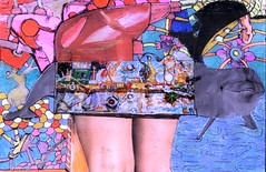 PANEL BEATERS (Narolc) Tags: abstract colour art collage paper flickr drawing surreal visualart symbolic imaginative autobiographical panelbeaters sparklingheart sharingart narolc juliancloran subliminallysubversive