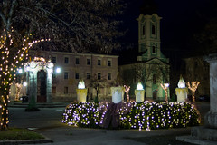 Advent wreath (malioli) Tags: christmas street xmas city light urban public night canon square town advent nightlights place croatia adventwreath cro hrvatska karlovac