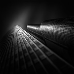 FLUID TIME V  Aligning Paths (Julia-Anna Gospodarou) Tags: longexposure blackandwhite chicago architecture us unitedstates fineart miesvanderrohe trumptower ibmbuilding chicagoarchitecture adriansmith 2013 canontse24mm photographydrawing 5dmk3 tiltshift blackandwhitefineartphotography chicagoworkshop formatthitech juliaannagospodarou envisionography prostopirnd