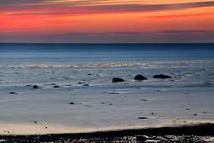 Seashore dusk (Mary Susan Smith) Tags: longexposure travel vacation water newfoundland coast holidays rocks dusk eastcoast aftersunset gamewinner smoothwater thechallengefactory tcfwinner pregamewinner