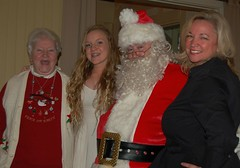 Pat Bonner, Tara Ryan and Mary Beth Bonner Ryan with Santa, AKA Seamus Bonner