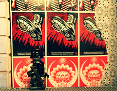 Martial Law (SilverMorph) Tags: street macro art modern poster soldier photography graffiti book lego martial military ak police figure law setup custom armed minifigure kalashnikov avtomat brickarms legography