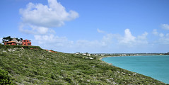 Home View (ShacklefordPhotoArt) Tags: ocean blue sea sky moon white beach nature water clouds island bay town view grand sound half tropical caribbean cay turks caicos turk providenciales