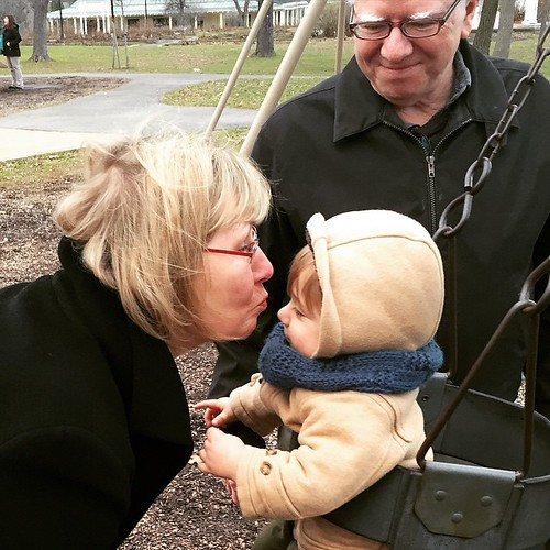 swinging into a kiss from grandma #matiaswilliam