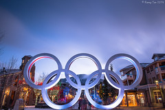 Olympic Rings, Whistler Village (Kenny Tan YK) Tags: christmas canada festive logo whistler lights village five rings olympics blackcomb