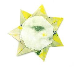 Fujimoto heptagon Rosette 36 back (Pliages et vagabondages) Tags: star origami rosette décoration étoile fujimoto