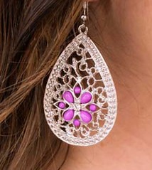 Glimpse of Malibu Purple Earrings K2 P5420-1
