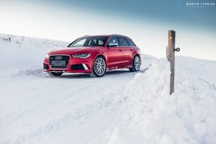 Audi RS6 Avant (CypoDesign) Tags: winter light red sun snow car night photography day automotive audi avant rs6 cyprian cypodesign