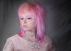 Self portrait. (jenvankaam) Tags: pink portrait color self hair jen makeup jem van rhinestones kaam
