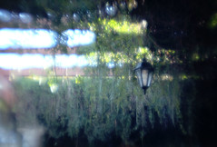 Lantern (LaneybugPhotography1) Tags: lighting old blue abstract blur lensbaby lens cool antique plate pinhole creepy filter lantern plans vignette zone optic