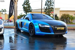 PFSR8 (Chris Hurtado) Tags: blue rain sport racecar photography audi supercar carbonfiber supercars slammed stance r8 chrishurtado supercarinsanity
