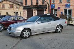 Mercedes CLK 230 (xwattez) Tags: auto france car mercedes automobile voiture german transports 230 cabriolet clk kompressor 2015 dcapotable vhicule rassemblement allemande castelginest