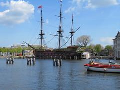 Amsterdam Centrum Scheepvaartmuseum VOC ship replica build 1985 (GeRiviera) Tags: netherlands dutch amsterdam iamsterdam ship nederland centrum noordholland scheepvaartmuseum voc