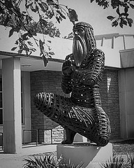 Moses (frank thompson photos) Tags: bw monochrome blackwhite moses kansas bianconero lawrencekansas noirblanc blanconegro sculpturestatue schwarzweis universityofkansaslawrenceks