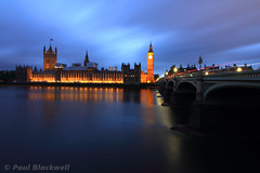 Parliament (pblackwell27) Tags: city uk longexposure greatbritain london thames night river bigben clocktower lighttrails riverthames westminsterbridge cityoflondon palaceofwestminster centrallondon lovelondon