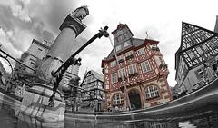 Brunnen Marktplatz (simon.grupp) Tags: simon canon deutschland eos hessen brunnen fisheye 8mm rathaus walimex marktplatz grupp heppenheim 700d