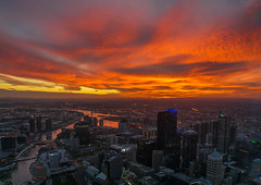 Sunset at Melbourne (Ananthasubramanian) Tags: travel cityscapes melbourne melbournediaries