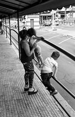 Children being children (Bruno Da Silva) Tags: street blackandwhite film monochrome brasil analog canon children mom child sopaulo mother streetphotography mercadomunicipal analoga filme expired crianas pretoebranco campinas me analgico 125px canonetgiiiql17 brunosilva filmisnotdead kodakplusx125