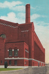 SE Ann Arbor MI c.1920s U of M's Yost Field House  built 1923 University of Michigan Maize & Blue WOLVERINES Athletic Facility Arena now YOST ICE ARENA designed by Smith, Hinchman and Grylls3 (UpNorth Memories - Donald (Don) Harrison) Tags: travel usa heritage history tourism vintage antique michigan postcard memories restaurants hotels trailer roadside upnorth cafes attractions motels cottages cabins campgrounds upnorthmemories rppc wonders michigan memories parks entertainment natural harrison roadside travel don tourist puremichigan stops upnorth