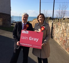 With Kezia Dugdale in Prestonpans for my campaign launch