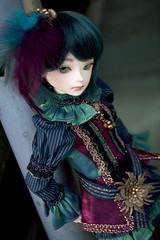 Dark Moon Marion (almyki) Tags: moon white green girl ball dark asian louis outfit doll slim skin body 14 mini fairy tiny bjd neo abjd joint dandy msd bluefairy makoeyes