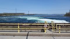 Vue D'Un Barrage D'Hydro Quebec. 2016-05-11 13:36.51 (Sandbanks Pro) Tags: bridge canada nature water eau quebec dam pont paysage barrage touristique fleuve fleuvesaintlaurent lescdres centralehydrolectrique