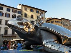 JAN  FABRE - FIRENZE  - F2514 (Chris Maroulakis) Tags: chris sculpture jan firenze piazza utopia fabre signoria 2016 tartarouga fujix30 maroulakis
