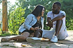 (albertojnior) Tags: verde love retrato amor natureza corao alegria sorriso casamento casal profundidadedecampo noiva namorado noivo aoarlivre