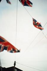 Just How Great? (Paul_Munford) Tags: street greatbritain sky london film kodak grain rangefinder flags analogue olympusxa ultramax400 kodakultramax400