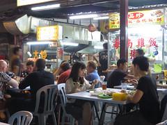 streeteating (PJHarrison) Tags: street travel food singapore southeastasia market malaysia dining satay hawkers skewers