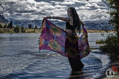 _MG_7518 (Deadly Darling DP) Tags: trees woman wet water dreadlocks river dark model woods gothic goth bellydancer jewelry crown bracelets bangles