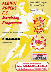 Albion Rovers vs Stranraer - 1994 - Cover Page (The Sky Strikers) Tags: two official stadium scottish wee division league albion cliftonhill programme rovers 60p