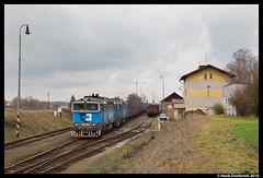 ČD Cargo 750 079, Luštěnice 03-03-2016 (Henk Zwoferink) Tags: cargo naar henk skoda tsjechië čd boleslav mladá luštěnice zwoferink middenbohemen 03032016 małaszewicze