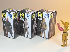 Takara Tomy  Star Wars Metal Collection (Metacolle) Diecast Figures Series #13 to #15  Box Art (My Toy Museum) Tags: metal star collection darth rey wars takara tomy chewbacca maul diecast metacolle