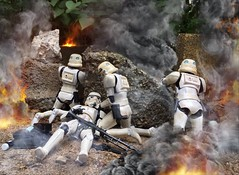 Pinned down by Rebel forces (chevy2who) Tags: 6 toy star inch action battle figure stormtrooper imperial wars six hasbro