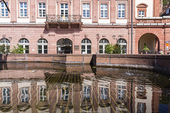 Heidelberg City Hall Reflection III (boettcher.photography) Tags: heidelberg april 2016 frhling spring boettcherphotography sashahasha reflection reflektion water wasser fountain brunnen rathaus cityhall altstadt