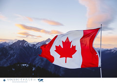 Canadian flag over the Rockies in Banff, Alberta. (Vincent Demers - vincentphoto.com) Tags: alberta canada canadianflag canadianrockies drapeau drapeaucanadien drapeauducanada flag flagofcanada landscape lesrocheuses montagne montganes mountain mountainrange mountains naturalbeauty nature northamerica paysage rockies travel traveldestination travellocation travelphoto travelphotography traveling trip voyage improvementdistrictno9 ca
