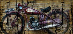 motorbike  James (Jackal1) Tags: motorbike james texture creative numberplate numbers letters wheels art