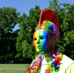 Mike (Colorado Sands) Tags: people usa mike america festive us colorado colorful mask denver parade celebration lgbt 2016 pridefest cheesmanpark gaycommunity happypride sandraleidholdt denverpridefest pridefest2016