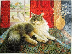 Agneatha and the Greek Vase (Lesley Anne Ivory) (Leonisha) Tags: cat chat puzzle katze jigsawpuzzle