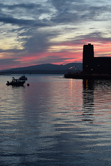 Coucher de soleil sur la baie d'Oban
