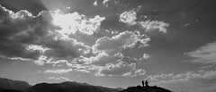 Hiker, Backlit (Chemophilic) Tags: bw landscape hiking sigma monolake quattro easternsierra dp0 colorefex