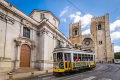 Lisbon Cathedral (_gate_) Tags: lisboa portugal pt lisbon tram strasenbahn lissabon summer sommer europe europa nikon d5300 sigma 1020mm wide angel angle weitwinkel sightseeing holiday urlaub city urban trip stadt erkunden cathedral kathedrale church catedral s patriarcal