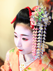 Maiko girl in fitting room, Gion, Kyoto (Apricot Cafe) Tags: asian asianethnicity japan japaneseethnicity kimono kyoto lypsekyo16 maiko sigma35mmf14dghsm beautiful brilliant fittingroom gion girls hairornament happiness hospitality indoors lifestyle oneperson people portrait serenity smile traditional traveldestinations walking women youngadult img647830