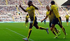 Odion Ighalo (MekyCM) Tags: soccer premier league football premierleague england wales britain unitedkingdom arsenal chelsea liverpool mancity united futbol futebol barclays leicester pitch supporters celebration southampton palace westham everton spurs newcastle stoke swansea sunderland watford westbrom bournemouth norwich villa