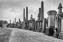 Glasgow necropolis (Catherine Sharman) Tags: scotland britain travel monochrome death victorian mono gothic necropolis europe graveyard glasgow
