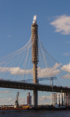 (Fedor Dzis) Tags:      russia saintpetersburg neva cablestayed bridge
